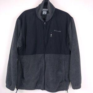 Men's Grey & Black Columbia Fleece Size Large